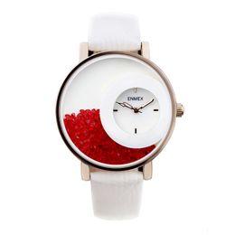 Wholesale Quartz Bottle - 2017 festival Memorial Day gift women luminous hands Swan Lake wristwatch Sand bottle fashion quartz diamond watches