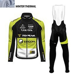 Wholesale Green Riding Jersey - Topeak Men Winter thermal Fleece cycling clothing long sleeve Pro cycling jersey  bib long pants winter cycling clothes hombre Riding green