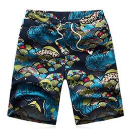 Wholesale Korean Casual Sportswear - Wholesale-Linen Summer 6XL Shorts Men's Casual Korean Cotton Sportswear Summer Large Size Floral of Men's Beach Shorts Trousers Men 6 Styl