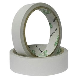 Wholesale Double Face Paper - Wholesale- 2016 Hot Sale 2 Rolls 18M Double Sided Tapes Powerful Double Faced Adhesive Tape paper For Mounting Fixing Pad Sticky High Qual