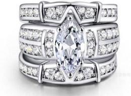 Wholesale Gold D Ring - Luxury three-storey ring Cut Enhanced D Vs Diamond 14K white gold engagement ring