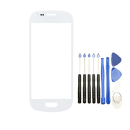 Wholesale Galaxy S Mini - Front Outer Touch Screen Glass Lens Replacement for Samsung Galaxy s3 Mini i8190 with Tools free DHL
