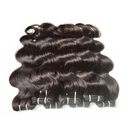 Wholesale Smooth Waves Hair - cheap unprocessed 7a brazilian virgin hair body wave mixed 300g 6bundles lot 50g bundle natural black brown color hair no shedding smooth