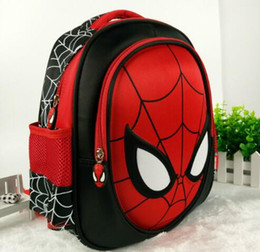 Wholesale Button Baby Bag - Hot 3D stereo Children's Boy spider man Cute New School Bag Boys Backpack Kids Children Cartoon School Bags Backpacks Baby