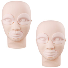 Wholesale Mannequin Skins - Top Sale 2 pcs of Mannequin Heads Practice Skin for Permanent Makeup Training Head with Free Shipping By DHL