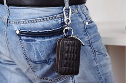 Wholesale Car Suspension Wholesale - Key case. Zip fastener. Genuine leather. High-capacity. Man. Woman. The multifunctional bag. Lumbar suspension. Car key bag.Key Wallets