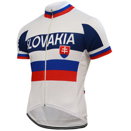 Maillot slovaque en Ligne-Personnalisé NEW Hot 2017 JIASHUO Slovaquie slovacchia vtt route RACING Team Bike Pro Cyclisme Jersey / Chemises Tops Vêtements Air Respirant