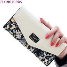 Wholesale American Dollar Coins - FLYING BIRDS wallet for women wallets brands purse dollar price printing designer purses card holder coin bag female LM4163fb