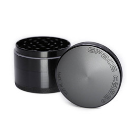 Wholesale Aluminium Alloy Material - New Space Case Grinder 63mm Herb Grinder 4 Piece Tobacco Grinders With Triangle Scraper Aluminium Alloy Material Herb Spice Crusher DHL Free