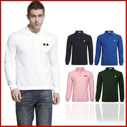 Wholesale Pink Costume For Men - Luxury Men Mon Brand French T Shirt Long Sleeve T Shirts for Men Marque Luxe Homme Franch Men Costume Clothing Polo T Shirt Freeshipping