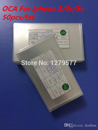 Wholesale Remover Oca Optical - Wholesale-250um Optical Clear Adhesive Double Sided Sticker LCD Digitizer OCA Glue Remover For iphone 5 5c 5s 50pcs lot Free Shipping