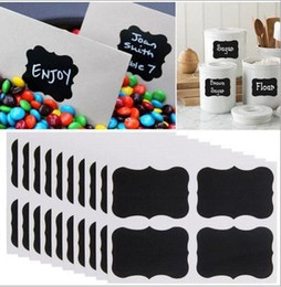 Wholesale Adhesive Bottle Labels - Blackboard Sticker Chalk Pen Chalkboard Stickers Labels Vinyl Kitchen Jam Jar Wall Cup Bottle Planner Mirror Decor Decals Tags 5cm x 3.5cm