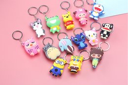 Wholesale Colorful Nail Clipper - Creative Pretty Cute Silicone Stainless Steel Nail Clippers Colorful Lovable Interesting Cartoon Figure Key Ring Decorations