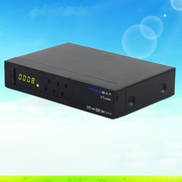 Wholesale Dvb Decoder - Freesat V7 combo FTA DVB-S2 DVB-T2 digital satellite receiver Satellite decoder Support USB WIFI Youtube Youporn 1080p HD
