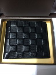 Wholesale Men Wallet Pockets - best quality 2017 men leather brand classic luxury wallet casual short designer card holder holder pocket fashion wallets men wallet