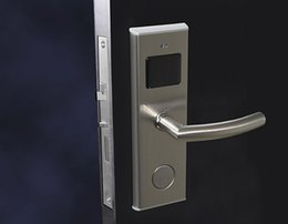 Wholesale Software Locks - MF Card Contactless Lock Euro mortise Silver DND function Panic Release Free Software