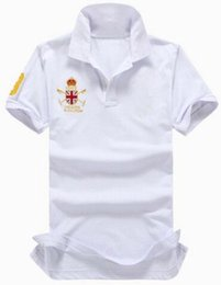 e01f025161b0 Super Selling Mercer Polo Team Britain Flag Polo shirt men Summer casual  camisa cotton solid color European style business polos White Red