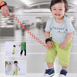 Wholesale Wholesale Cotton Wristband - 200pcs lot 1.5m Adjustable Kids Safety Anti-lost Wrist Links Band Children Braclet Wristband Baby Toddler Harness Leash Strap