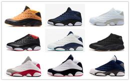 Wholesale Men Street Shoes - Michael retro 13 low basketball shoes sneakers pure money chutney brave blue Bred hornets black street ball shoes for men women
