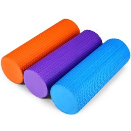 Wholesale Wholesale Pilates Roller - Wholesale-HOT 2 Colors 2 Size EVA Yoga Pilates Fitness Foam Roller Physio Blocks Exercise Massage Gym Cure Trigger Point