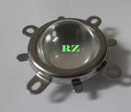 Wholesale Led Reflector White - Wholesale- 5Set 44mm Glass LED Lens 60Degree + 50mm Round Hole Reflector Collimator + Fixed Bracket for 10W Round Shape High Power COB LED