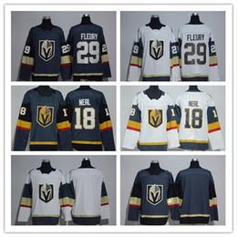 Wholesale Order Baseball Jersey Cheap - 2018 New Vegas Golden 29 Marc-Andre Fleury Jerseys 18 James Neal Sports Uniforms Cheap Color Grey Gray White,Mix Order