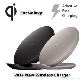 Wholesale Universal Receivers - New OEM Fast Wireless Charger For Samsung Galaxy s8 s8 Plus s7 s7 edge S6 S6 Edge+ S6 Edge note5 Nero High Quality free ePacket