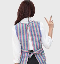 Wholesale Cooking Jacket - 2017 new arrivals style Fashionable Japanese cartoon cotton sleeveless vest adult female cook down jacket cotton apron overclothes winter