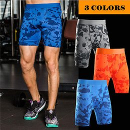 Wholesale Men S Tight Boy Shorts - Wholesale- Tights Mens Boys Compression Shorts Base Layer Thermal Sport Skins Under Gear