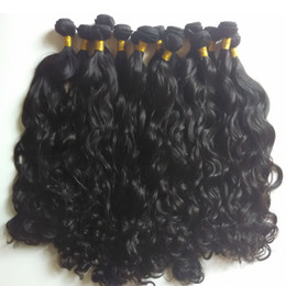 Wholesale mongolian hair factory - WHOLESALE Brazilian virgin Hair Weaves 8A Unprocessed Natural Wave 8-28inch cheap Factory price Unrocessed 4pcs Indian human Hair extensions
