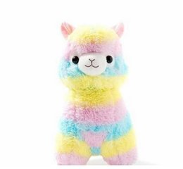 "Wholesale Rainbow Plush - 5"" Cute Rainbow Alpacasso Kawaii Alpaca Llama Arpakasso Soft Plush Toy Doll Gift LDD9081"