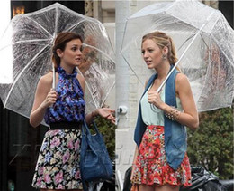 "Wholesale Resistance Long - 34"" Big Clear Cute Bubble Deep Dome Umbrella Gossip Girl Wind Resistance"