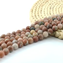 Wholesale Natural Stone Semi Precious - Semi Precious Round Beads Natural Colorful Agate Smooth Beads Gemstone 6 8 10mm Full Strand 15'' L0567#