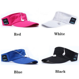 Wholesale Usb Baseball - Bluetooth Sports Baseball Cap Canvas Summer Outdoor Hat Music Speaker Wireless Mic Wireless Headset Multi Colors