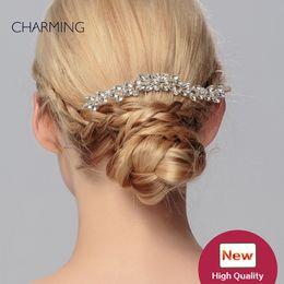 couronne indienne de cristal Promotion accessoires de mariée accessoires de cheveux unique diadèmes de mariée cristaux perles de mariage diadèmes de mariage vignes de cheveux de mariage pas cher