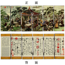 Wholesale Wang Art - Creative study the living room decoration lacquer small screen business gifts Wang Xizhi Calligraphy Festival Lanting Pavilion sequence