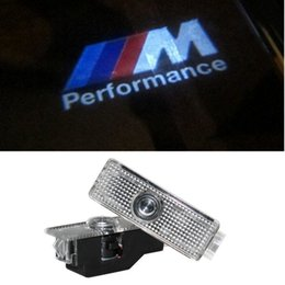 Wholesale Door Projectors - 2X Car LED Courtesy Door Logo Projector Light Ghost Shadow Light FOR E63 E81 E82 E70 E71 X1 X3 X5 X6 E90 BMW E60 car styling