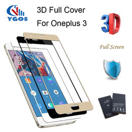 Wholesale Full Guard - For Oneplus 3   3T Tempered Glass Screen Protector One Plus 3 Three Oneplus3 Full Cover 9H 2.5D Ultra Thin Protective Film Guard