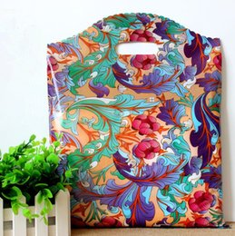 Wholesale Clothes Paint - 50Pcs 25*35cm China Style Flowers Pattern opera Plastic Paint Gift Bag Gift Clothing Pouches