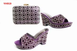 Wholesale Shoes Match Clutches - Newest 2017 shoes and bag matching set size 37 to 43 coral clutches bag and shoes free shipping shoes