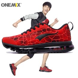 Wholesale Fashion Boots Rubber Soles - ONEMIX Man Running Shoes For Men Air Cushion Athletic Trainers Mens Red Shox Sole Race Sports Shoe 2017 Fashion Outdoor Walking Sneakers 47