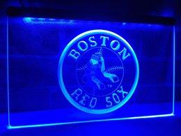 Wholesale Boston White Sox - LD113B- Boston Red Sox Baseball Bar LED Neon Light Signs