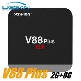 Wholesale Top 3d Media Player - V88 Plus tv box RK3229 Quad-Core 2GB 8GB Smart Android Tv Box WiFi 3D HDMI Android 5.1 ott Set-top Box Media Player