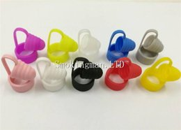 Wholesale ecig rings - Ecig Silicone Drip tip Cover dust off cap and vape band Silicone Dust Caps Rings Dustproof Sanitary Drip Tips Cap Band cap