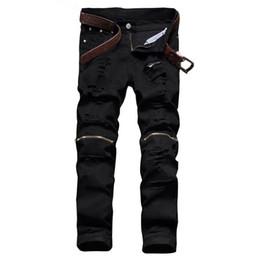 Zerissene schwarze skinny jeans