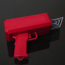 Wholesale Toy Gun For Model - Super Money Gun The Cash Cannon With Props Money Red Color Best Gift Toys For Kids and Adults