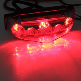 Wholesale Clear Honda Headlight - Motorcycle 9 LED Tail Rear Red Light Lamp DC 12V Clear Lens LED Brake Tail Lights Motorcycle Rear Turn Indicators for Motorbike