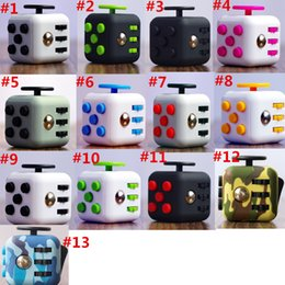 Wholesale Cube World Toys - Camo Fidget Cube 13 Styles The World First American Gag Toys Decompression Anxiety Toys Free Shipping