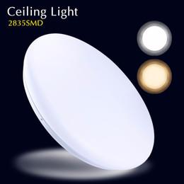 Wholesale Downlights Living Room - 2017 led Ceiling light 24w 85-265v Led lamp Round Led Panel Light Surface Mounted lighting indoor living room bedroom downlights