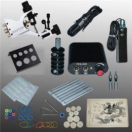 Wholesale Tattoo Guns Equipment - Professional 1 Set 90-264V Complete Equipment Tattoo Machine Gun Power Supply Cord Kit Body Beauty DIY Tools 1001313Kit